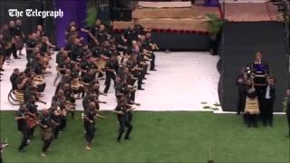 Jonah Lomu's memorial service haka: New Zealand remembers the former All Blacks star