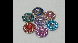 DIY~Sparkly Flower Center Embellishments Using D.T. Materials!