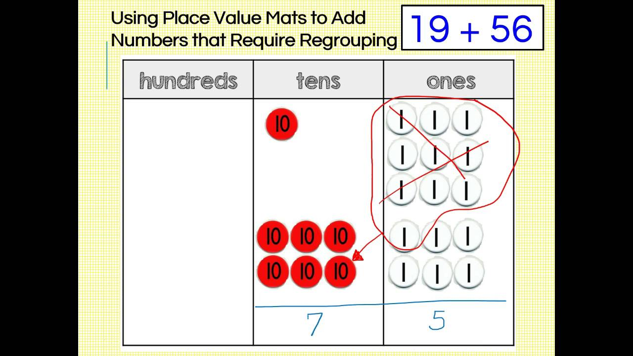 place value mats for addition and subtraction 2nd grade youtube. Black Bedroom Furniture Sets. Home Design Ideas