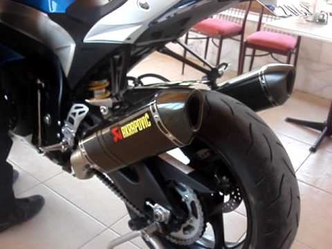 suzuk gsxr 1000 k9 akrapovic full exhaust system youtube. Black Bedroom Furniture Sets. Home Design Ideas