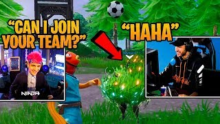 NINJA juega Fortnite con Neymar JR & lo consigue su primera victoria! Fortnite FUNNY Moments
