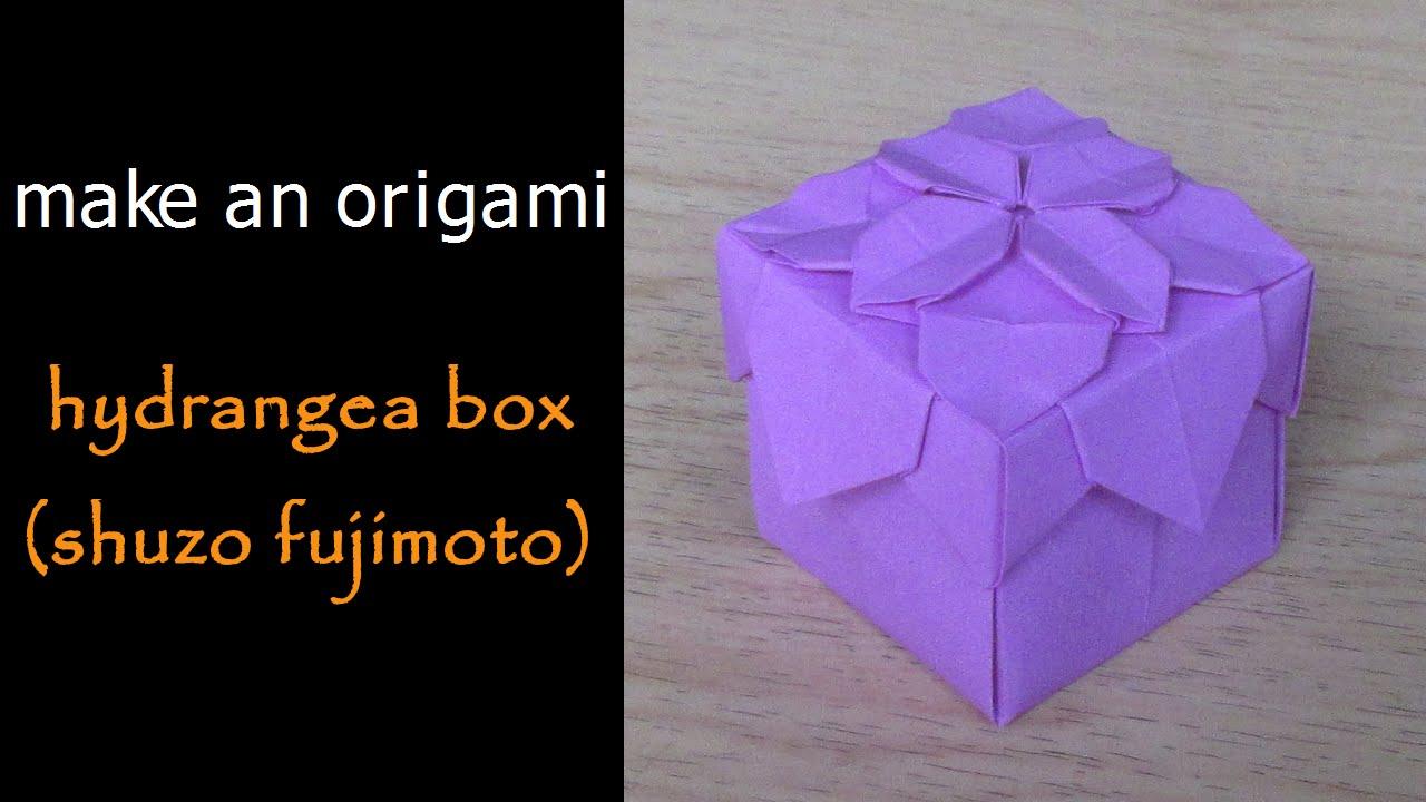 Make An Origami Hydrangea Box Lid Shuzo Fujimoto