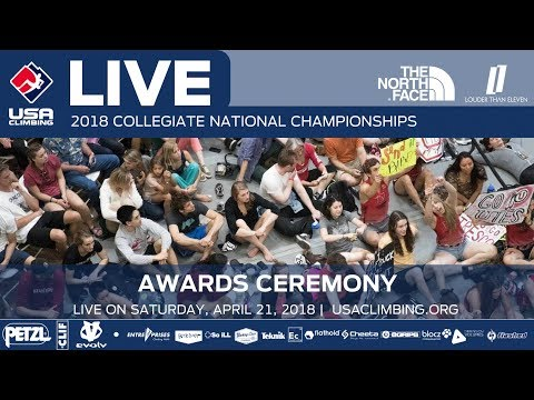 Awards • 2018 Collegiate National Championships • 4/21/18 Time Subject to Change