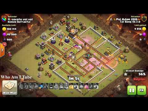 Old Skills Bowlaloon Destroy War Hard Base, COC Amazing War
