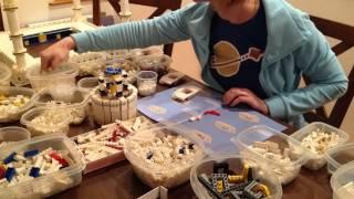 LEGO Taj Mahal assembly time lapse