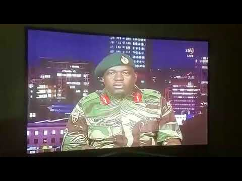 Zimbabwe Defence Force ZDF reading statement on Zimbabwe Broadcasting Corporation ZBC