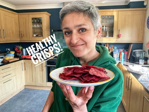 Healthy Crisps   Beetroot chips   Healthy snack   Homemade chips   Cook with me   #withme