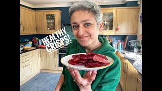 Healthy Crisps | Beetroot chips | Healthy snack | Homemade chips | Cook with me | Food with Chetna