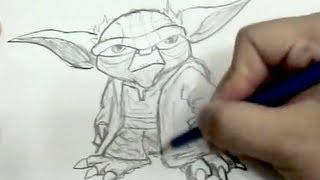 how to draw jedi yoda star wars (2nd one)