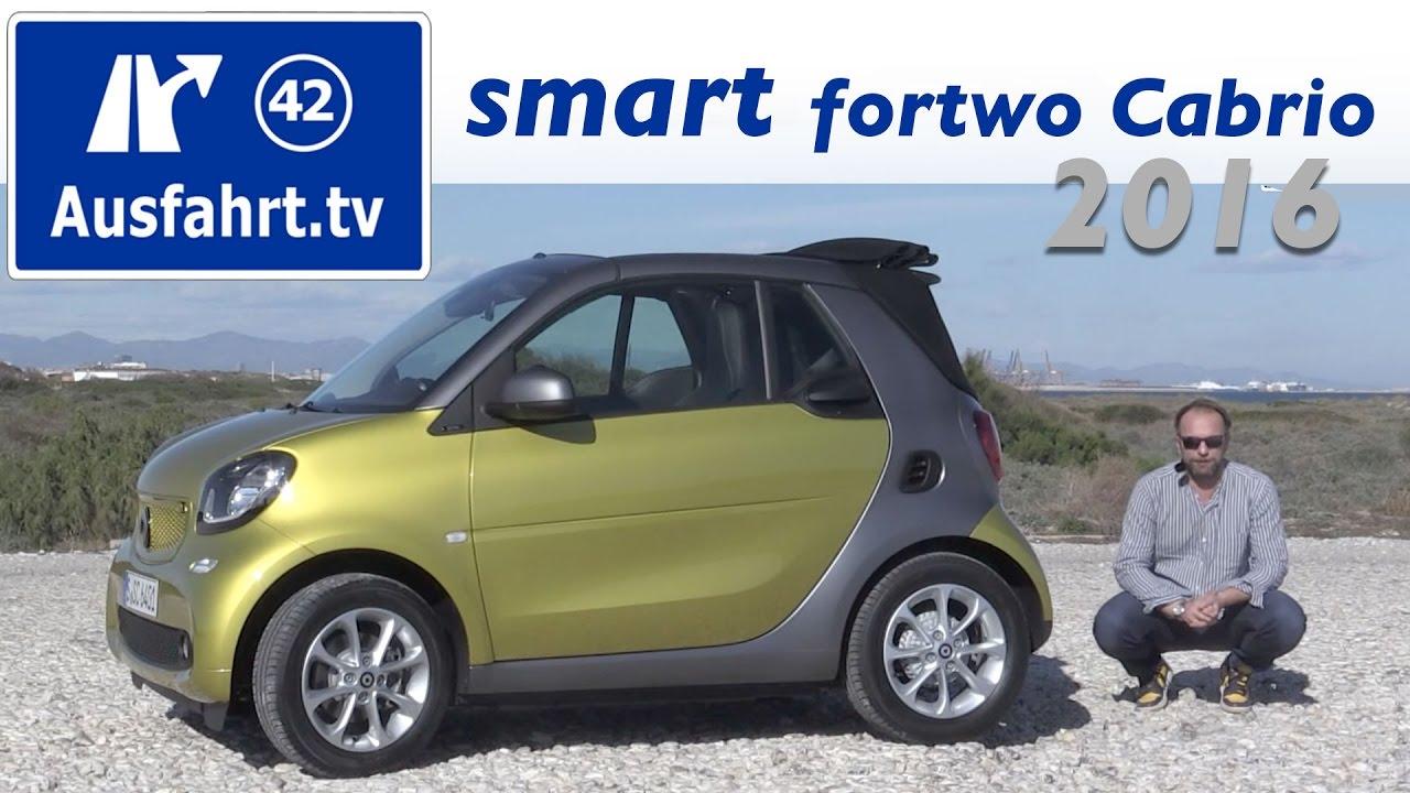 Smart Farben.2016 Smart Fortwo Cabriolet 453 Fahrbericht Der Probefahrt Test Review