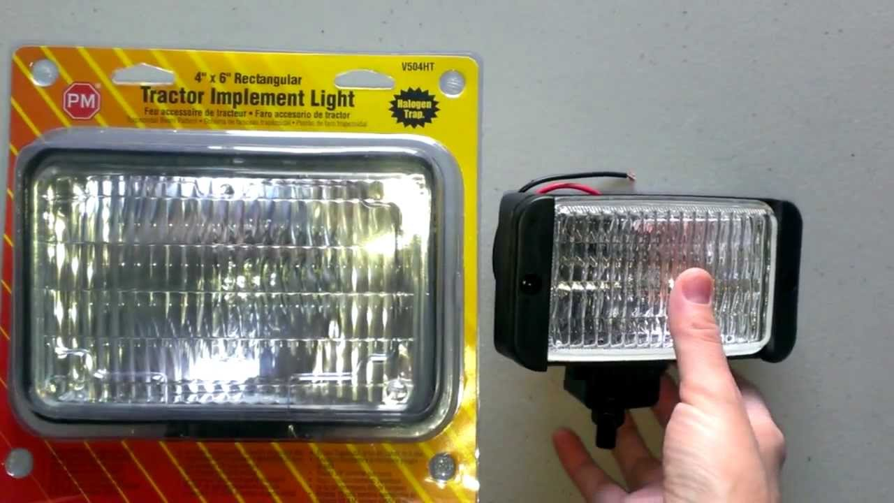 Tractor Headlight Bulb Sizes : Peterson tractor lights and work lighting youtube
