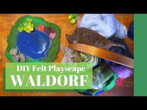 Waldorf Felt Play Scape, Diy Waldorf Toy, Diy Play Mat,  Handmade Toy