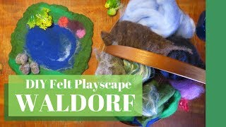 Waldorf Felt Play Scape, Diy Waldorf Toy, Diy Play Mat,  Handmade Toy thumbnail