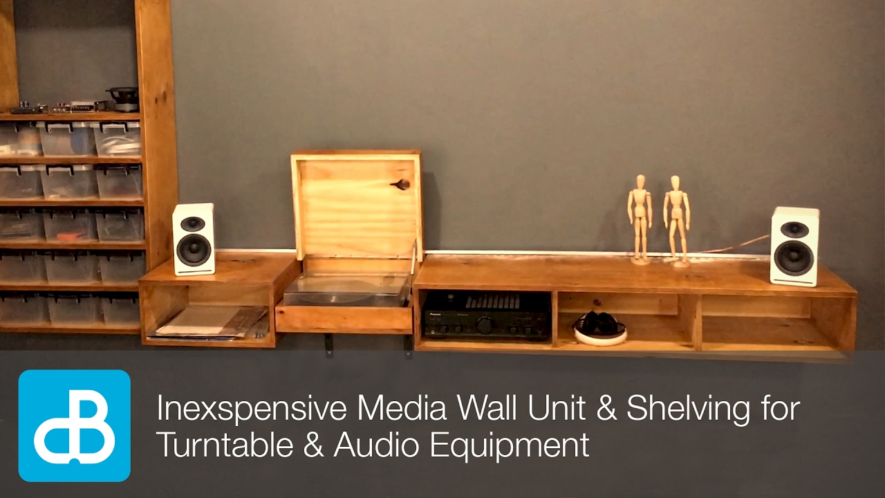 Inexpensive Wall Unit Shelving For Turntable Audio Equipment