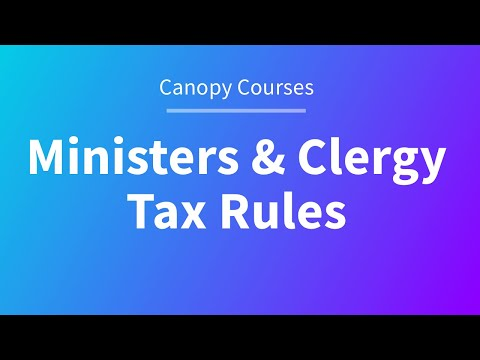 Ministers & Clergy Tax Rules (1/4)