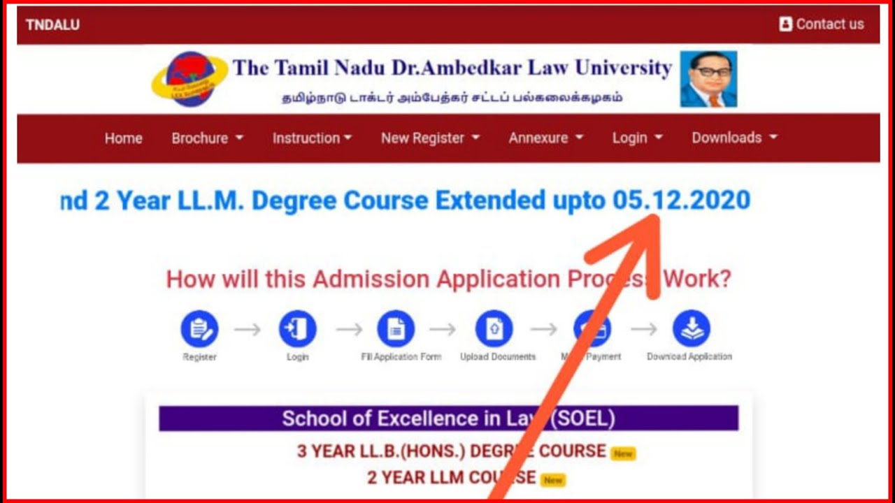 New Update 3 year LLB & 2 Year LLM Application Last Date Extended 05.12.2020