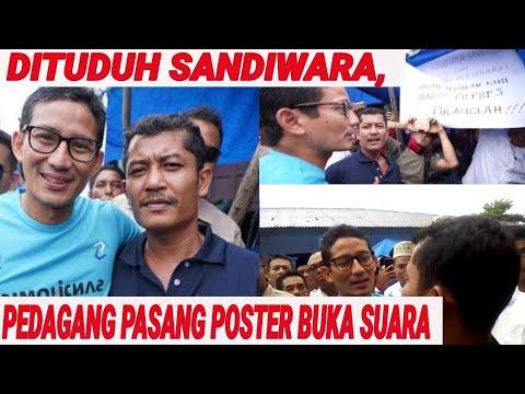 DITUDUH SANDIWARA, PEDAGANG YG USIR SANDIAGA BUKA SUARA; PILPRES 2019; PRABOWO; JOKOWI;PILPRES 2019;