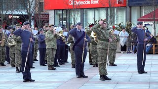 Finale of Beating Retreat in Dundee City centre by the National Cadet Music Camp Scotland 2019