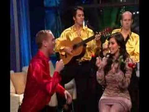 Spanish Mike with Kim Kardashian  Telemundo