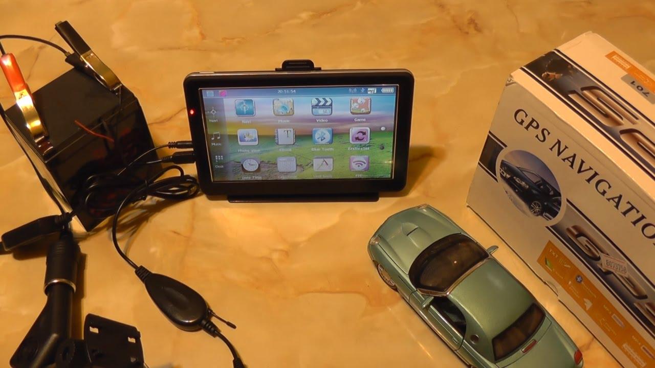 "Car 7/"" GPS Navigation Bluetooth Sat Nav with Wireless Rear View Backup Camera"