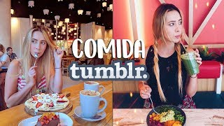 Creando FOTOS TUMBLR con COMIDA 🍦🥗🍿📸 l Nancy Loaiza