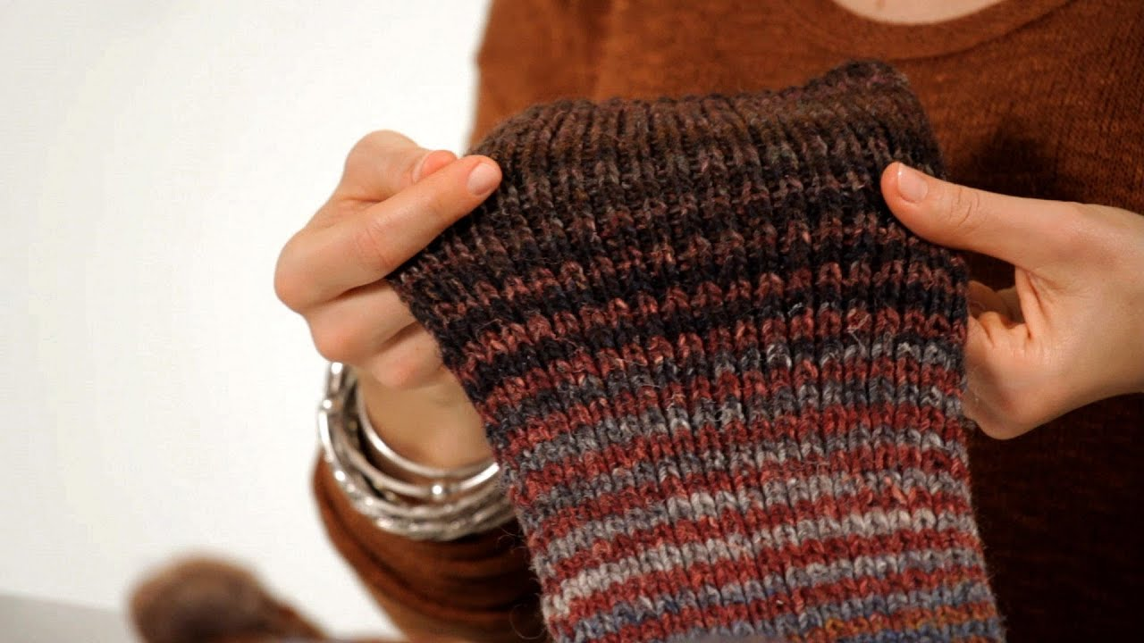Knitting Ribbing With Two Colors : How to do ribbing knitting youtube