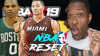 i reset the nba to 2008 in nba 2k19... everything is different