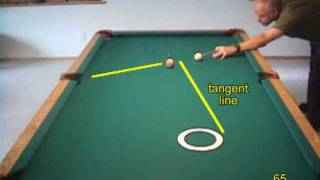 Pool target practice drill for learning cue ball control, from VEPP II (NV C.6)