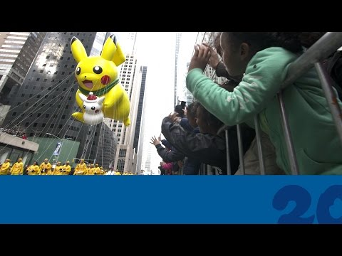 Celebrate #Pokemon20 with the Pikachu Balloon at the 2016 Macy