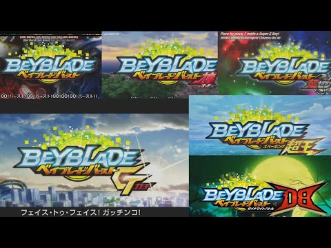 Beyblade Burst - All Opening Themes (Season 1-6)
