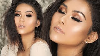 How To: Easy Bronze Smokey Cat Eye Makeup Tutorial | Roxette Arisa