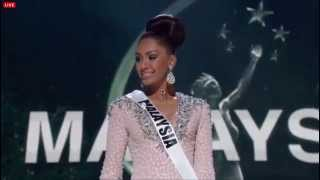 MISS UNIVERSE 2014 PRELIMINARY COMPETITION: SABRINA BENEETT (MALAYSIA) EVENING GOWN
