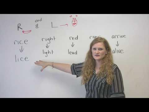 English Pronunciation - R & L