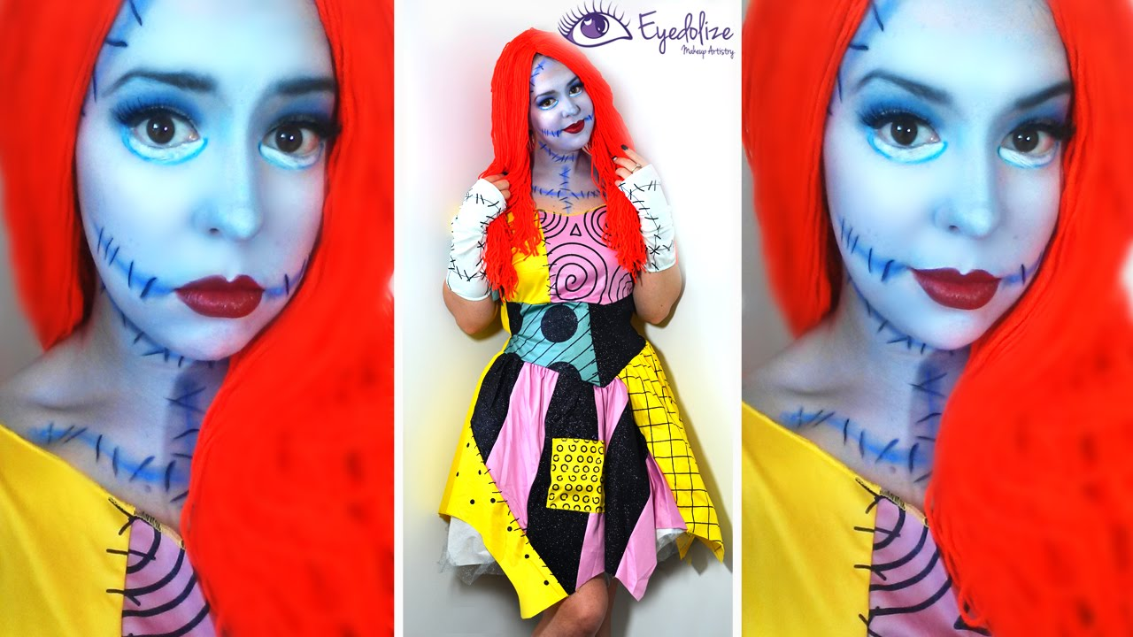 Sally Nightmare Before Christmas Makeup Tutorial & Costume with ...