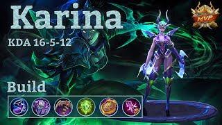 Mobile Legends: Karina MVP, Quadra Kill With New Build!