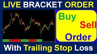 How To Place Bracket Order with Trailing Stop Loss in Share khan Trading Software [ in Hindi ] -