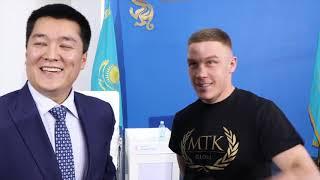KUGAN CASSIUS TEACHES KAZAKH BEAST VIKTOR KOTOCHIGOV FIRST WORDS IN ENGLISH - FEAT. ASKAR SALIKBAYEV