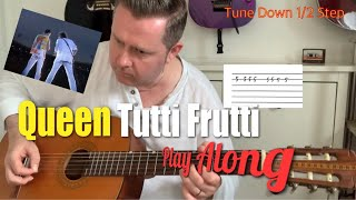 Queen Tutti Frutti Live 86 Acoustic Guitar Tab Play Along - Magic Tour Budapest 1986