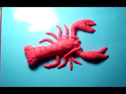 Making of play doh lobster - YouTube