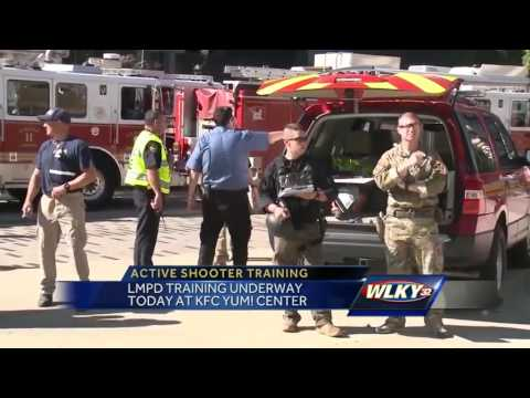 Louisville Metro police conduct active shooter training