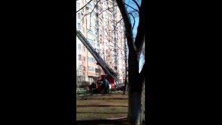 15 марта 2016 пожар, улица Цюрупы Москва