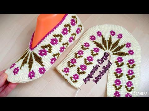 Tunus işi Kolay Nergis Modeli / Tunusian Brioche Crochet