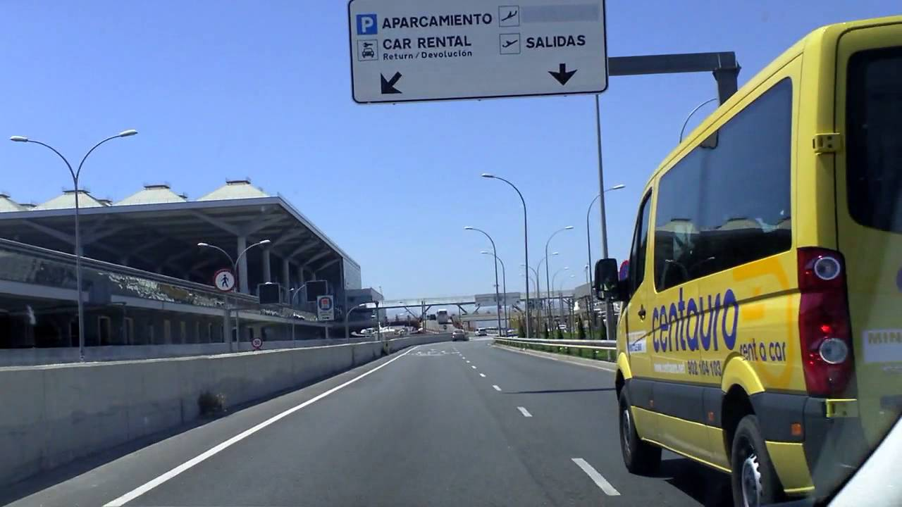 Malaga Airport Car Rental Return Route Youtube