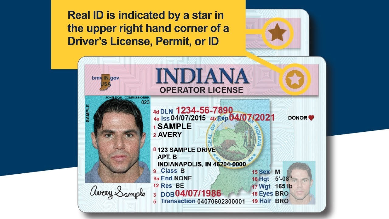 indiana id card vs drivers license