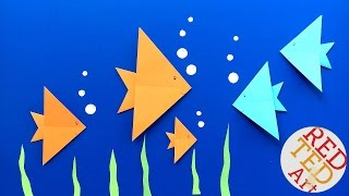 Easy Origami Fish DIY - Easy Origami for Kids (Very Easy) - Summer Paper Crafts