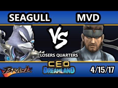 CEO Dreamland 2017 Brawl - InC   Seagull (Wolf) Vs. PG   MVD (Snake) SSBB Losers Quarters