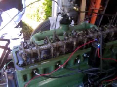 GMC 270 Engine - Start Up after re-build - YouTube