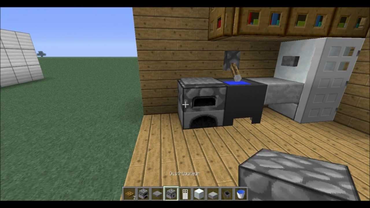 Tuto meubles voiture dans minecraft youtube for Minecraft meuble