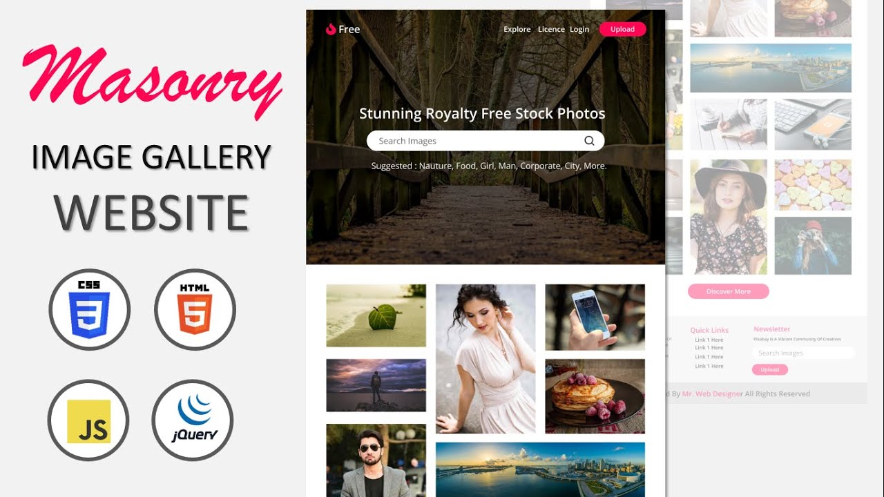 How To Make Responsive Image Gallery Website Design Using HTML CSS & JQUERY