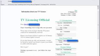Tv licensing Email Scam